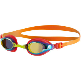 speedo Mariner Supreme Mirror Goggles Kinder jaffa/watermelon/gold